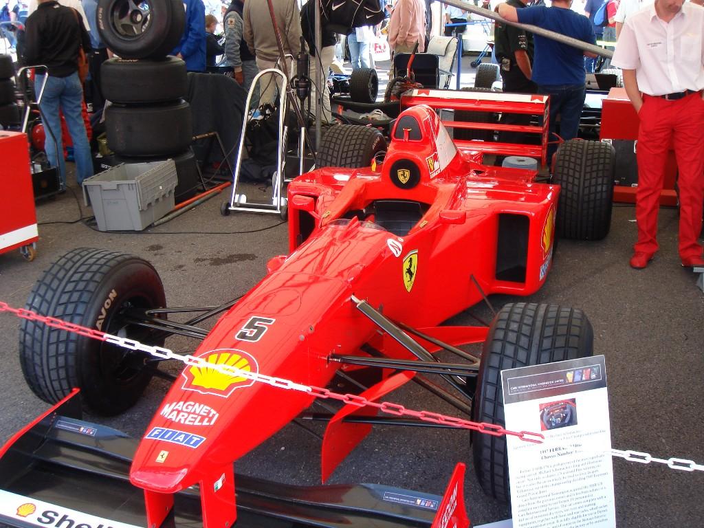 Ferrari f1 car fos paddock
