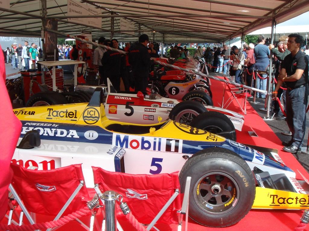 fos paddock f1 cars