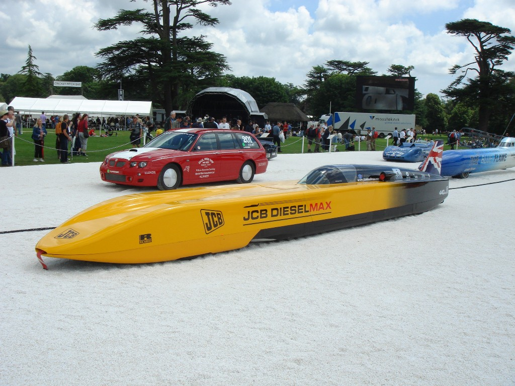 Goodwood land speed record jcb diesel