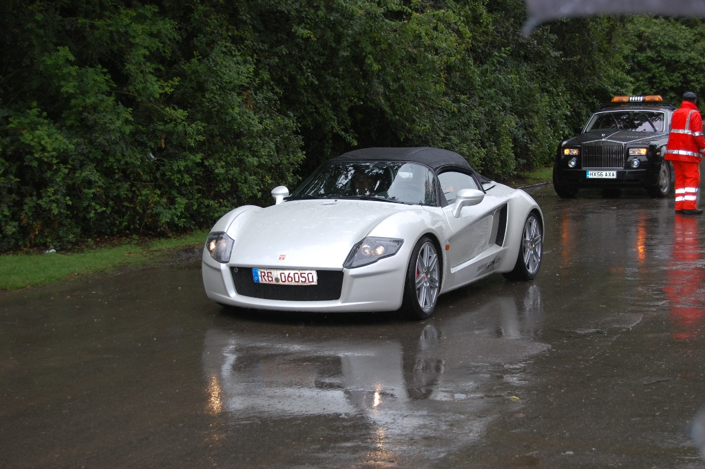 Goodwood supercar cabriolet rain