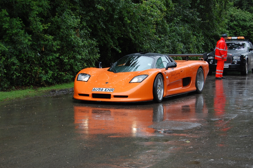 Goodwood supercar orange